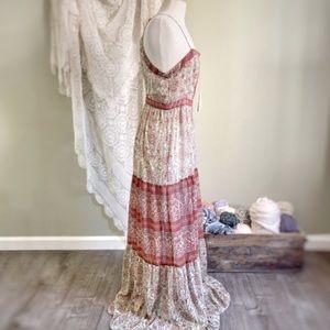 Ecote Dresses - ECOTE | Open Back Boho Maxi Dress Urban Outfitters